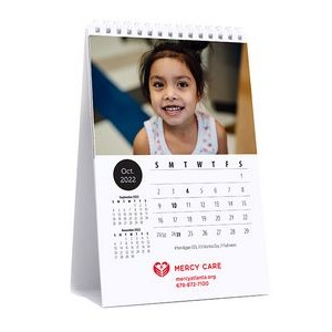 Mid Size 12 Photo Custom Desk Calendar (5 1/4