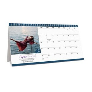 Mini 12 Photo Custom Desk Calendar (11