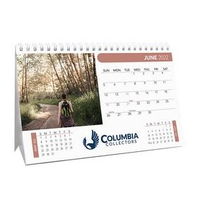 Mid Size 12 Photo Custom Desk Calendar (8 1/2