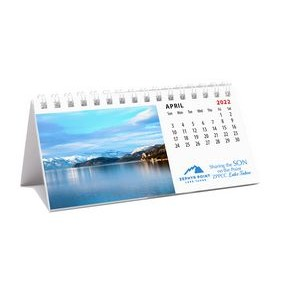Mini 12 Photo Custom Desk Calendar (5 1/2