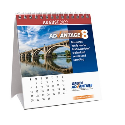"12 Photo Custom Desk Calendar (4 3/4""x5 1/4"")"